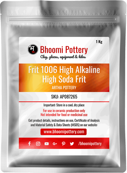 Artha Pottery Frit 1006 High Alkaline. Special Purpose High Soda Frit for sale in India - Bhoomi Pottery