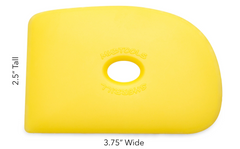 Buy Mud Tools Shape 2 Polymer Rib Yellow Soft for Sale in India - Bhoomi Pottery