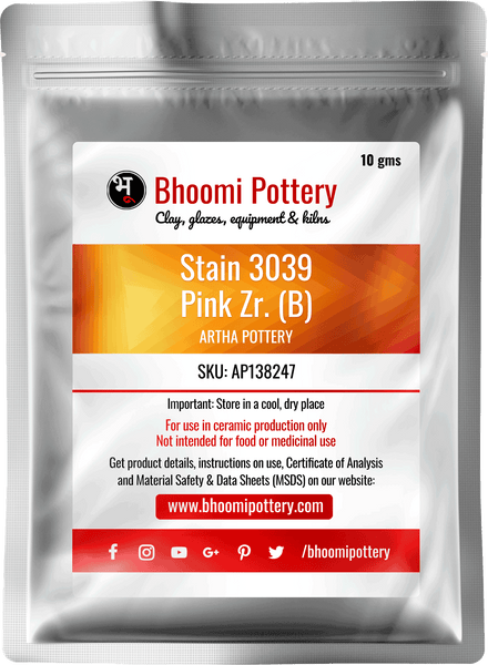 Artha Pottery Stain 3039 Pink Zr. (B) 100 gms for sale in India - Bhoomi Pottery