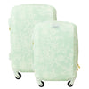 Lace Texture Hard Sided 2 Piece Luggage Set, Mint, 29 and 21in Luggage