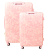 Lace Texture Hard Sided 2 Piece Luggage Set, Blush Pink, 29 and 21in Luggage