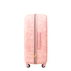 Lace Texture Hard Sided 21in Rolling Luggage Suitcase, Blush Pink