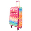 Chevron 29in Soft Sided Rolling Luggage Suitcase, Multi