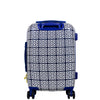 Geo Print 21in Hard Sided Rolling Suitcase, Blue
