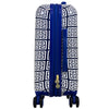 Geo Print 29in Hard Sided Rolling Suitcase, Blue