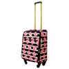 Petunia 21in Soft Sided Rolling Luggage Suitcase, Black Floral