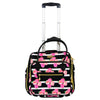 Petunia 16In Soft Sided Under Seat Rolling Luggage, Magenta