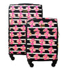 Petunia Soft Sided 2 Piece Luggage Set,Black Floral, 29 and 21in Luggage