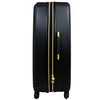 Black Molded Quilt 31in Hard Sided Rolling Luggage