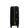 Black Molded Quilt 23in Hard Sided Rolling Luggage