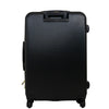 Black Molded Quilt 27in Hard Sided Rolling Luggage