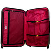 Black Molded Quilt 3 Piece Luggage Set, 31, 27, and 23 inch Luggage