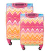 Chevron Soft Sided 2 Piece Luggage Set, Multi, 29 and 21in Luggage