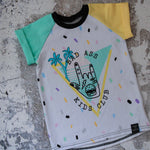 Retro kids badass tee
