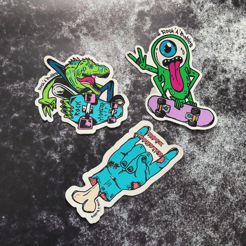 Skate Monster Sticker Pack
