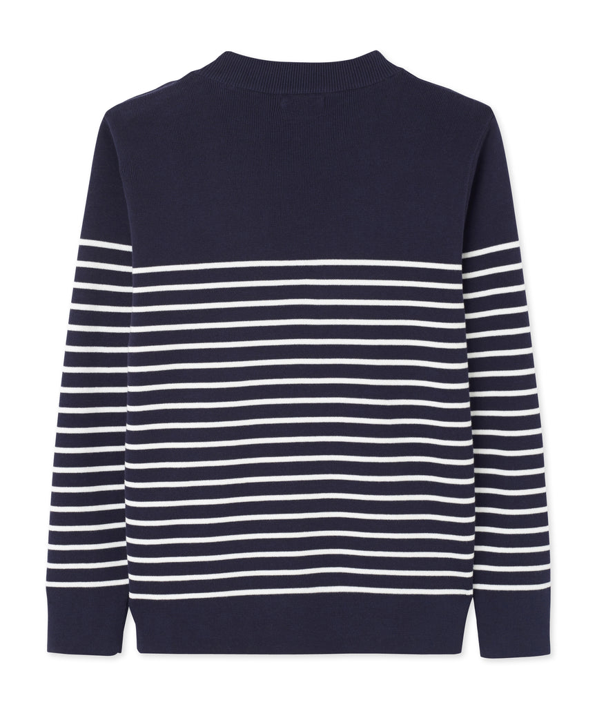 Petit Bateau Men's Cotton Knit Stripe Mariniere