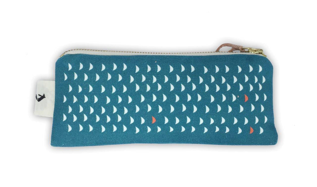 Pleased To Meet Love Me Whale Slim Pouch