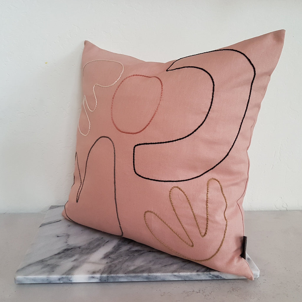 Plinth Home Abstract Cushion Rose