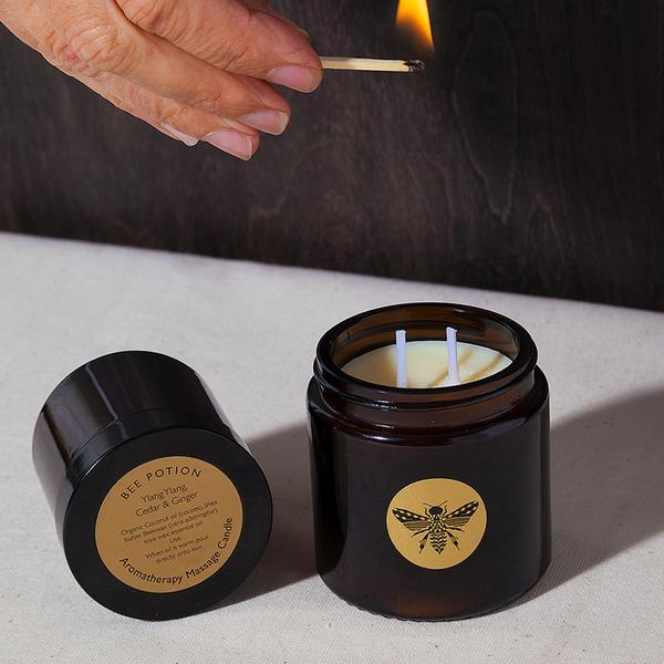 Bee Potion Bee Relaxed Geranium & Black Pepper Aromatherapy Massage Candle