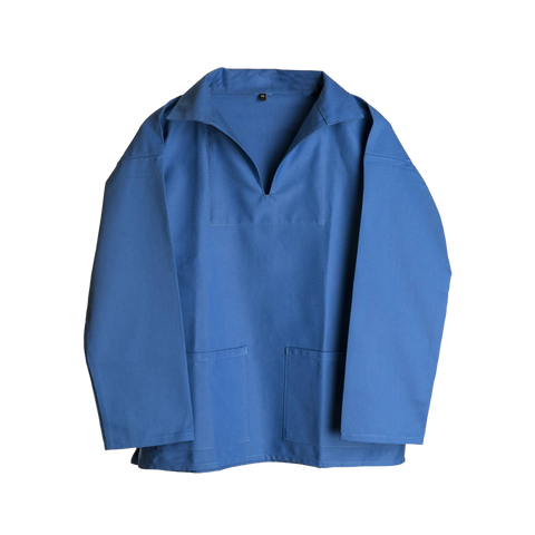 Carrier Company Unisex V-Neck Smock Norfolk Blue