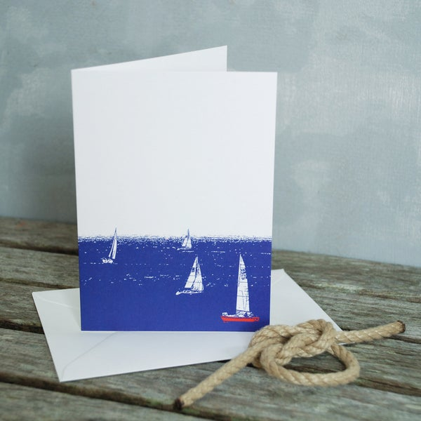 Lonetree When The Boats Come In Greeting Card