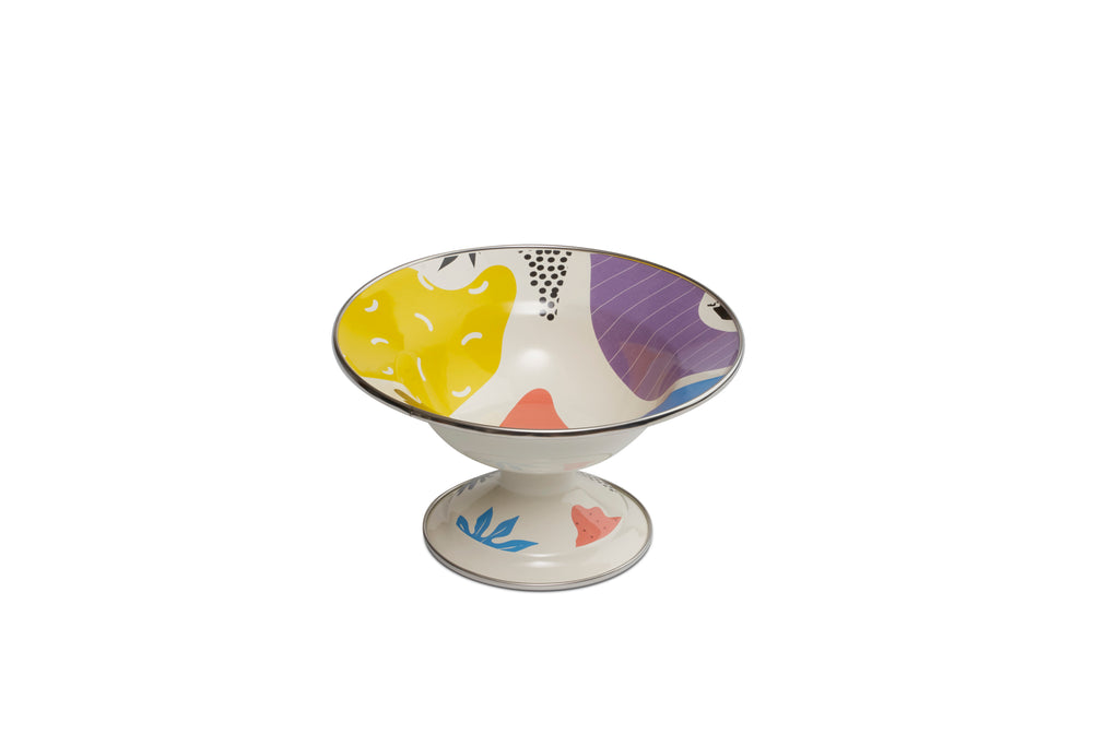 Kapka Flashback Footed Small Enamel Fruit Plate
