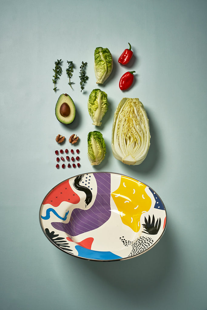 Kapka Flashback Large Enamel Fruit Plate