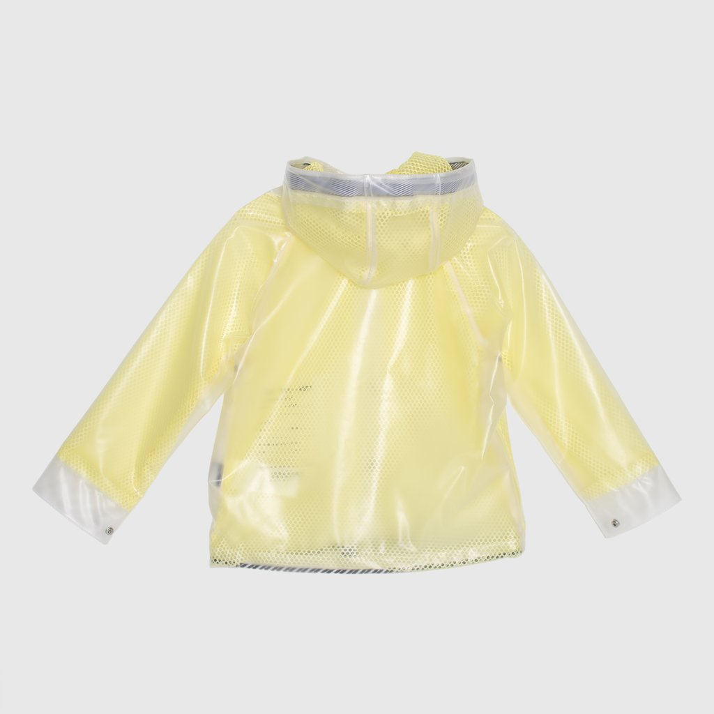 GoSoaky Kids Famous Cow Transparent Unisex Raincoat Blazing Yellow