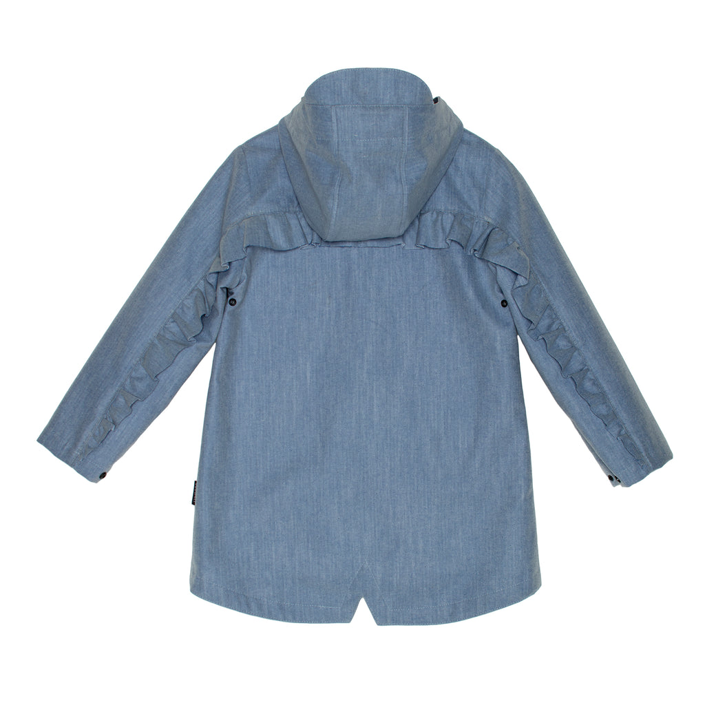 GoSoaky Kids Little Red Hen Lined Raincoat Blue Denim
