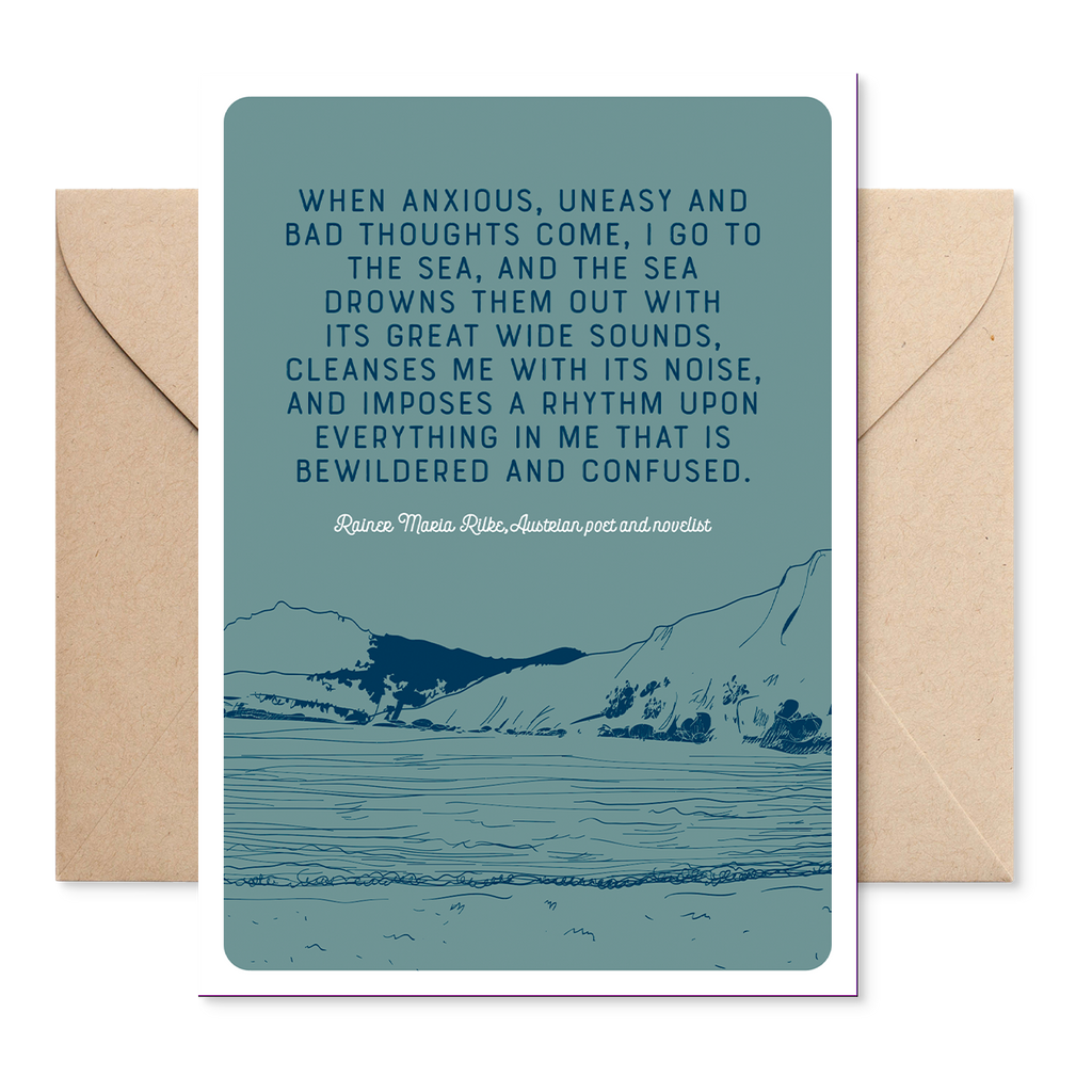 Marsha By The Sea 'When Anxious' Greeting Card