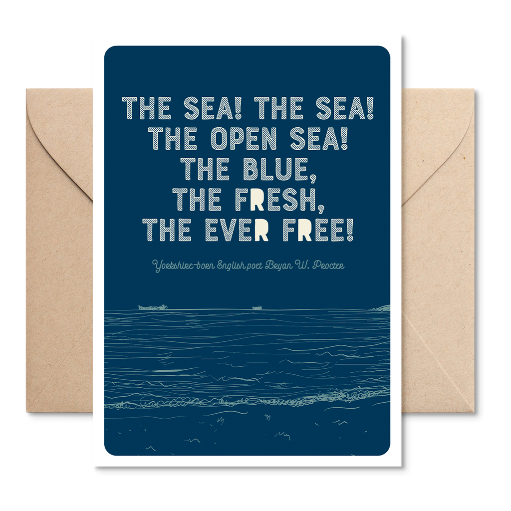 Marsha By The Sea 'The Sea! The Sea!' Greeting Card