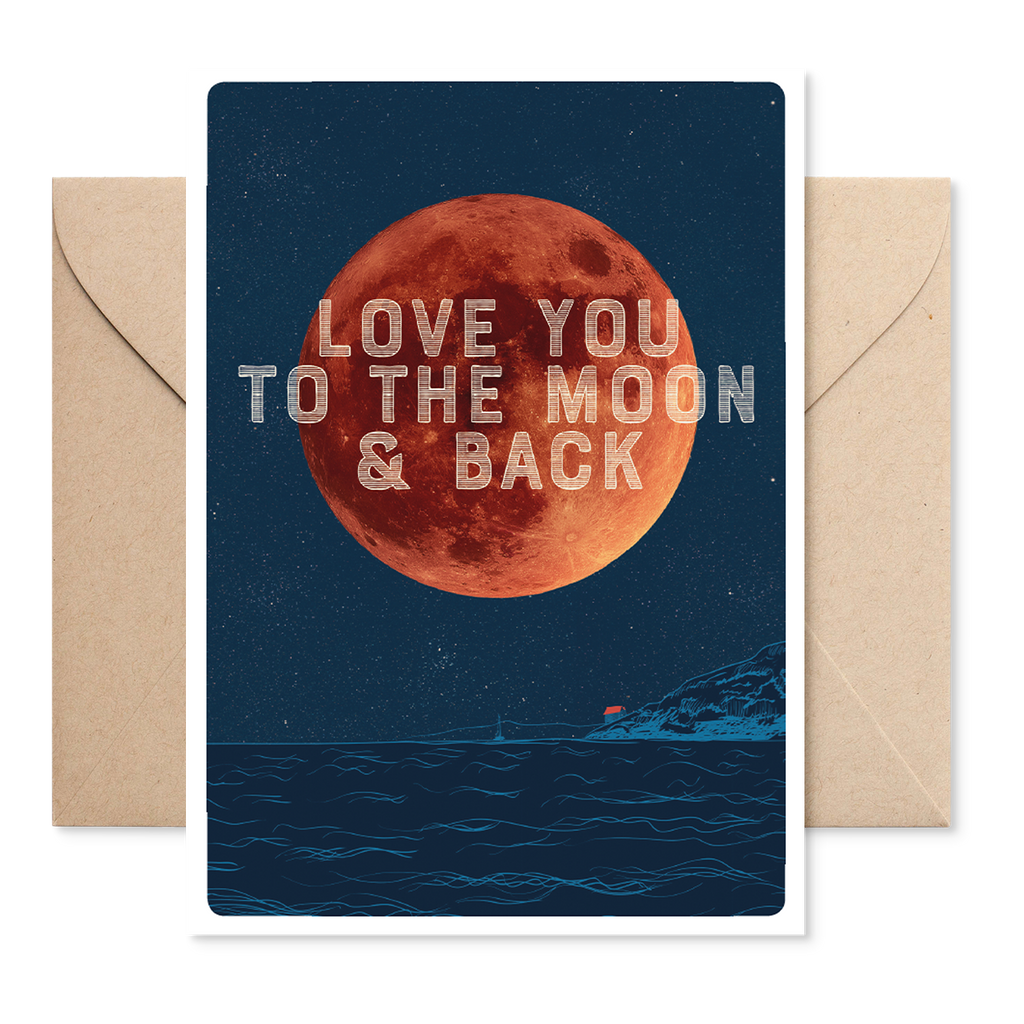 Electric Carp X Marsha 'Love You To The' Moon Card