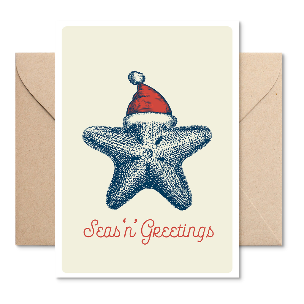 Marsha by The Sea 'Seas 'n' Greetings Starfish' Christmas Card