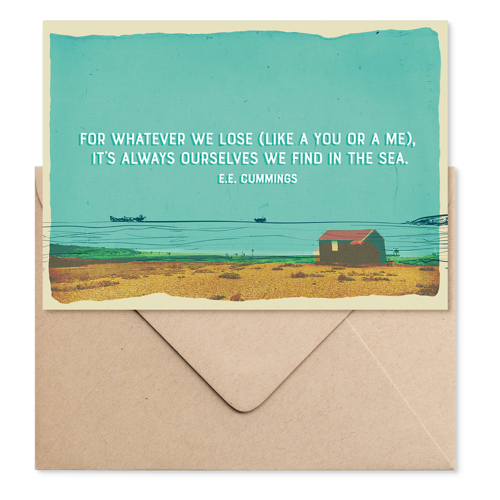 Marsha By The Sea 'For Whatever We Lose' Greeting Card