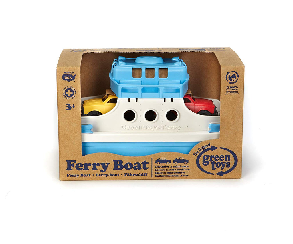 Green Toys Recycled Plastic Ferry Boat With Cars - Blue