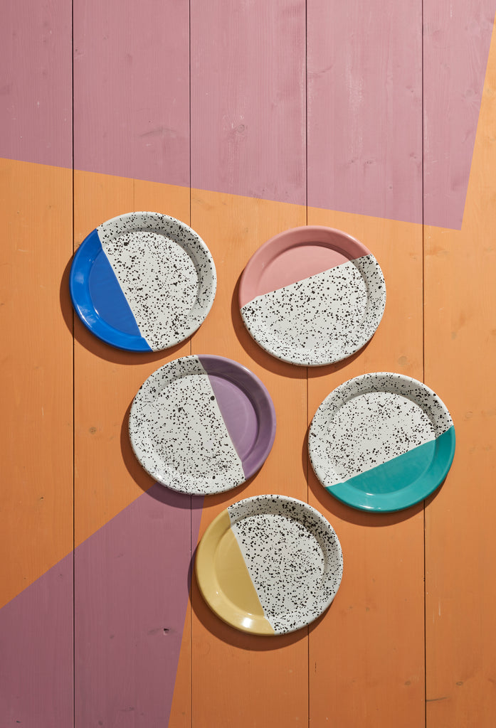 Kapka Mind-Pop Purple Enamel Plate