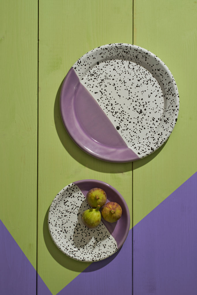 Kapka Mind-Pop Purple Enamel Dessert Plate