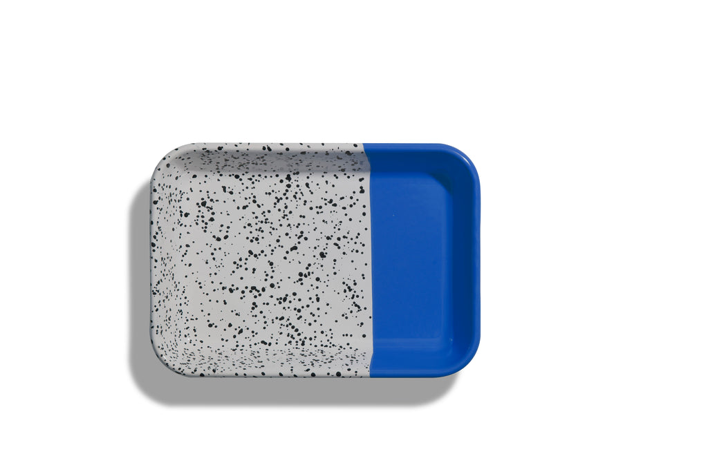 Kapka Mind-Pop Cobalt Blue Enamel Big Mezze Plate