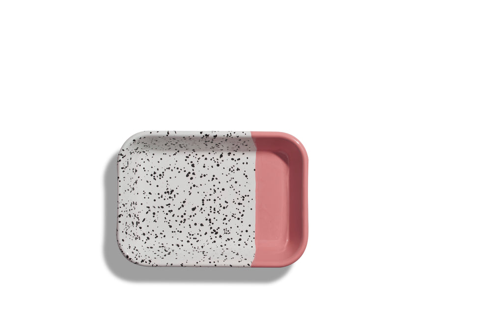 Kapka Mind-Pop Pink Enamel Big Mezze Plate