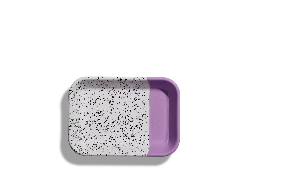 Kapka Mind-Pop Purple Enamel Big Mezze Plate