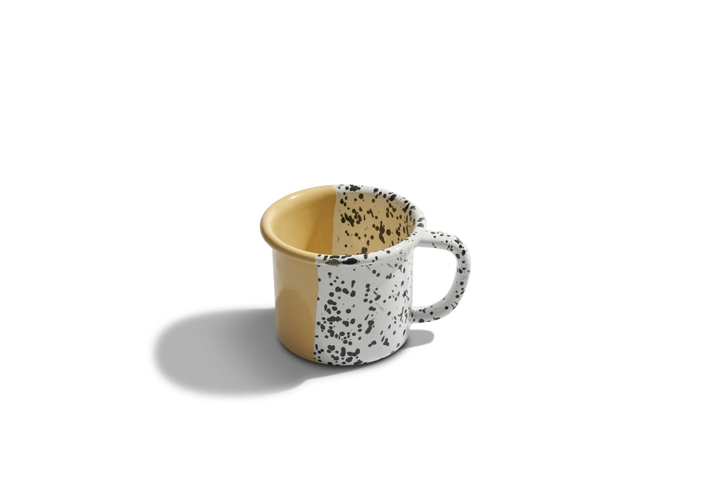 Kapka Mind-Pop Yellow Enamel Mug