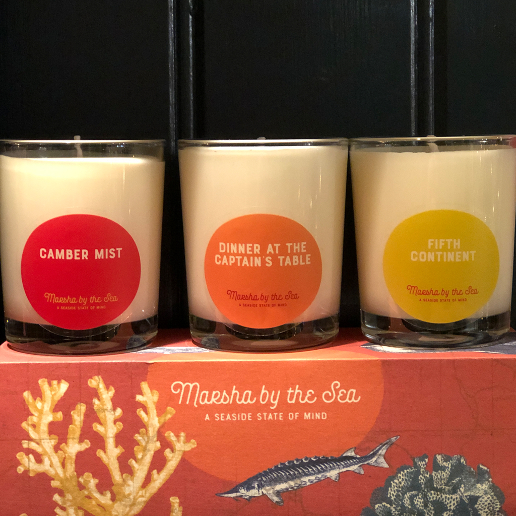 Marsha By The Sea Shoreliner Candle Trio