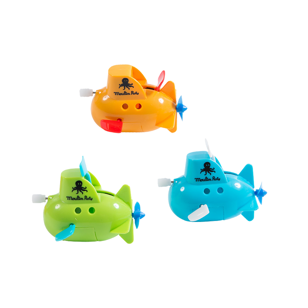Moulin Roty Wind-Up Mini Submarines - Pack of 3