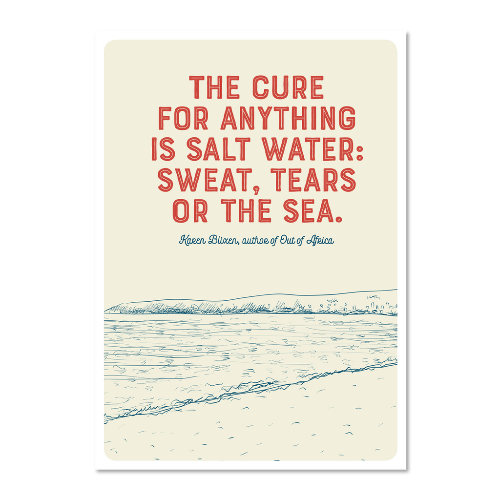 Marsha By The Sea Pack of 10 'The Cure For Anything' Postcards