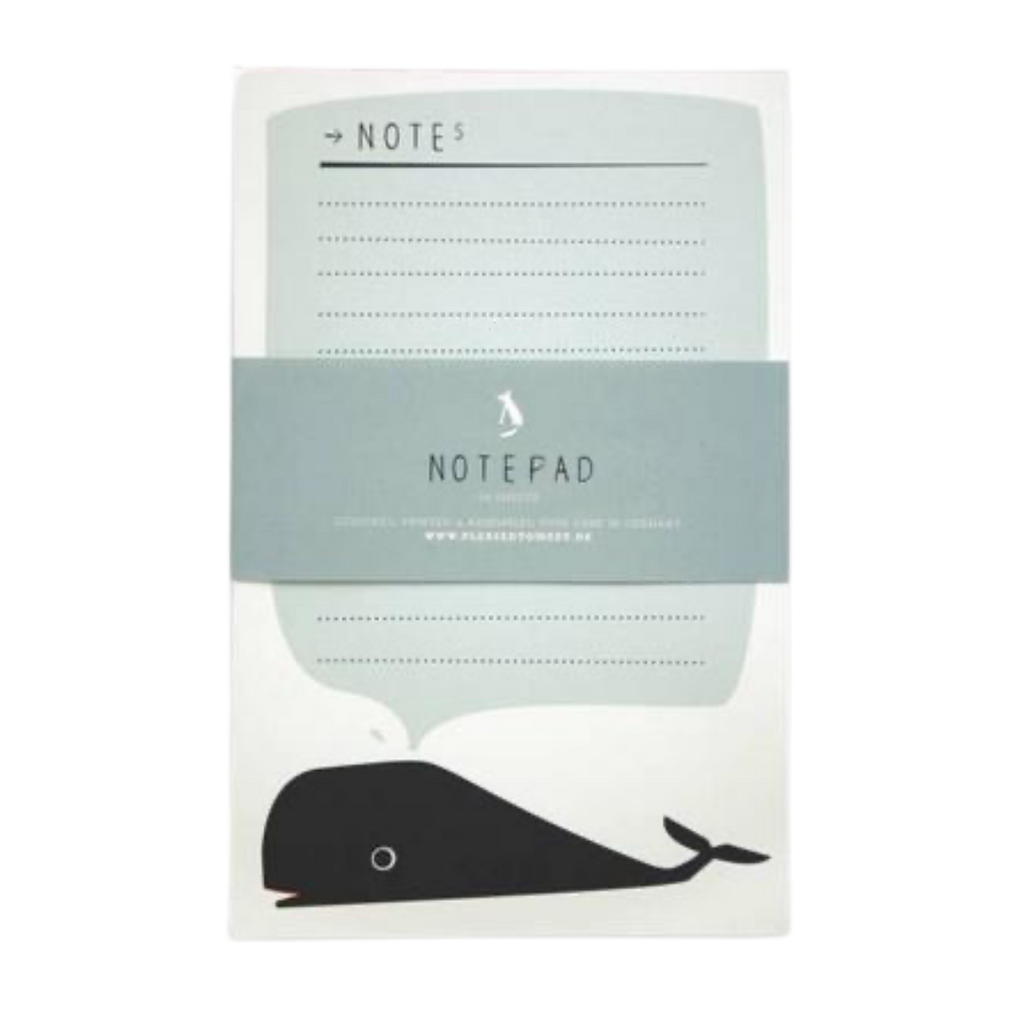 Pleased To Meet Whale Notepad