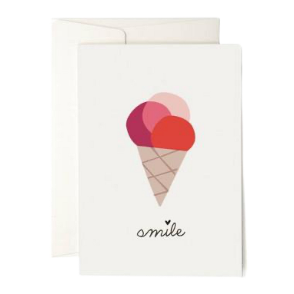 Pleased To Meet Ice Cream Smile Greeting Card