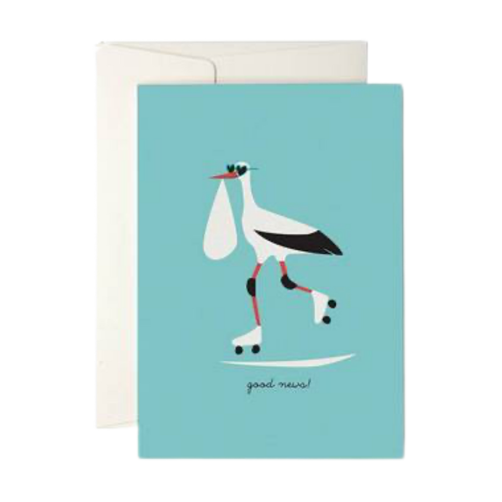 Pleased To Meet Good News Stork Greeting Card