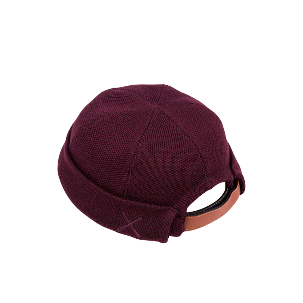 Béton Ciré Knitted Miki Brittany Sailors Hat Burgundy