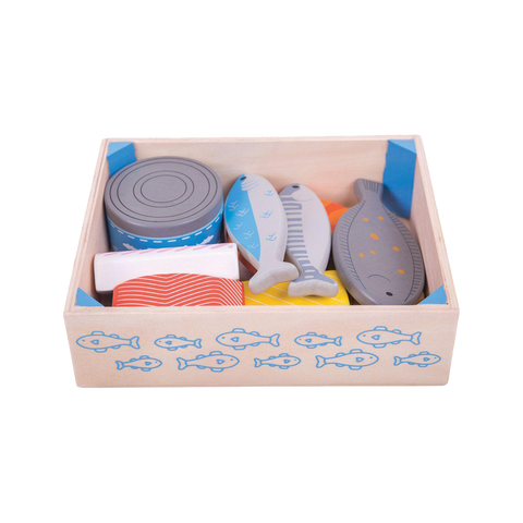Bigjigs Wooden Seafood Crate