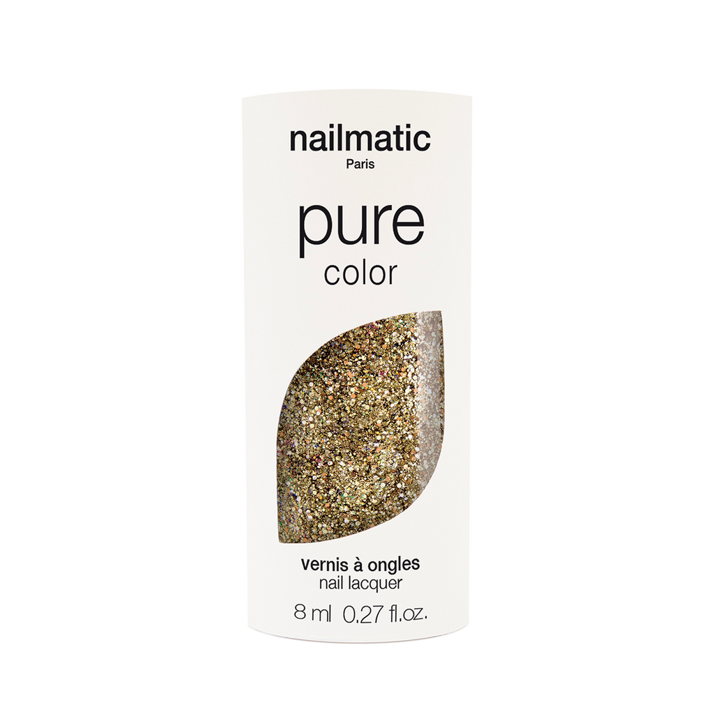 Nailmatic PURE Vegan Nail Polish - Bonnie Rose Gold Glitter